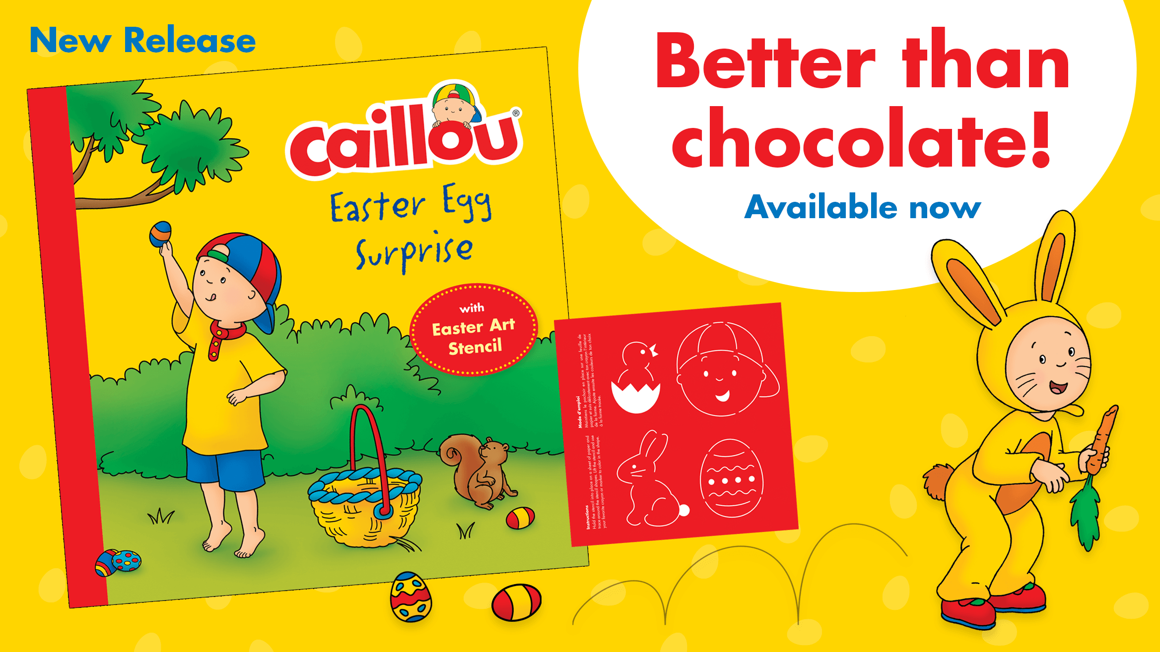 NEW Book! Caillou's Easter Egg Surprise Storybook released post image