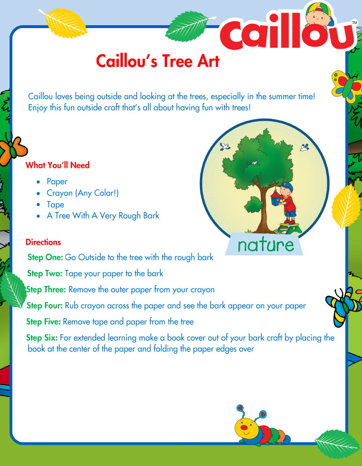 Caillou_SummerLearning_TracingTrees_072016