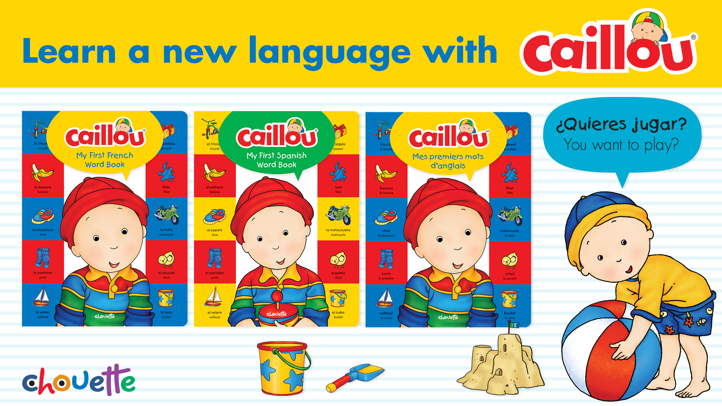 Caillou Releases New Bilingual Word Books! post image