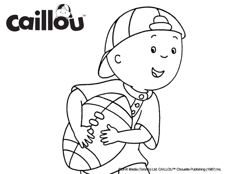Activities caillou for Caillou printable coloring pages