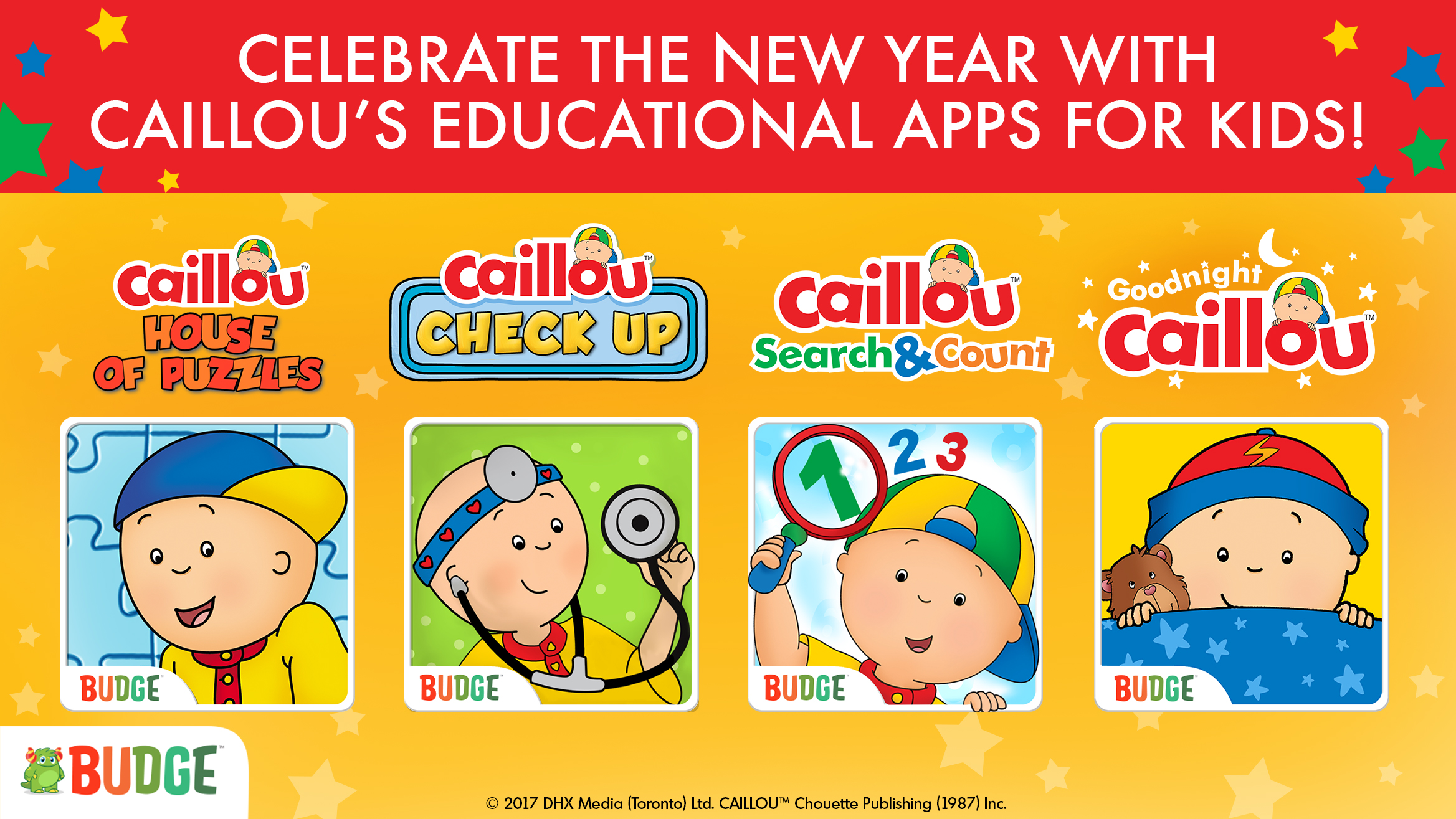 Celebrate the New Year with Caillou's Educational Apps for Kids! post image