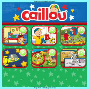 Budge Games Caillou