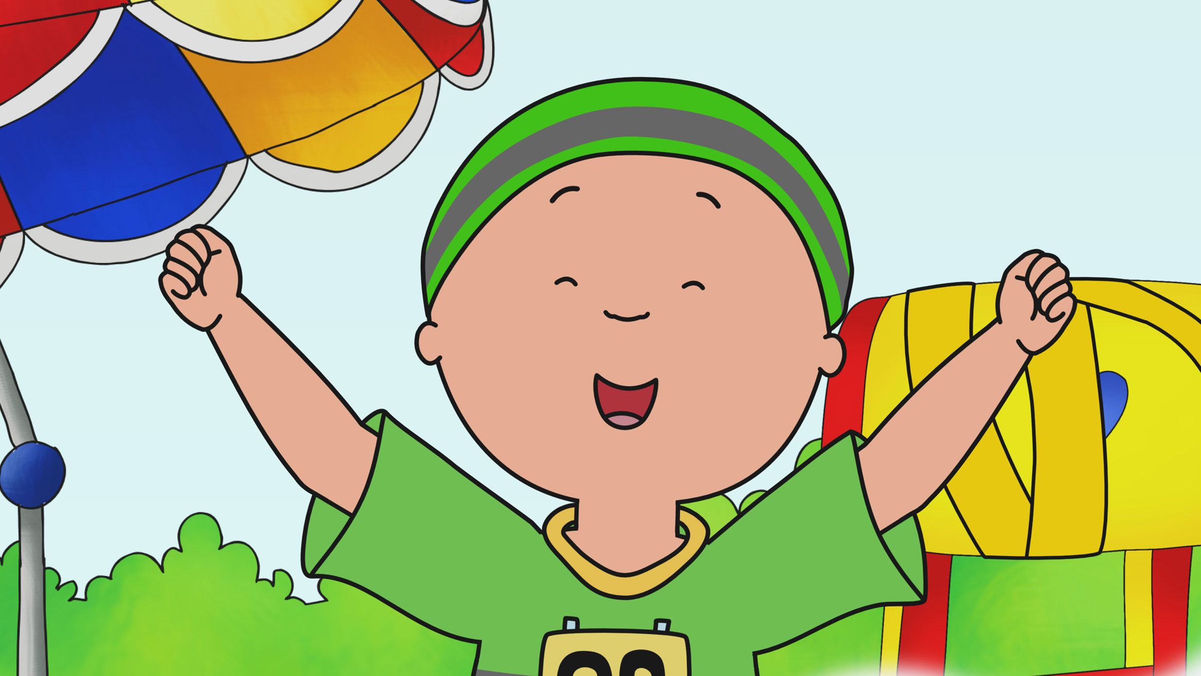 caillou encourages kids to stay active caillou