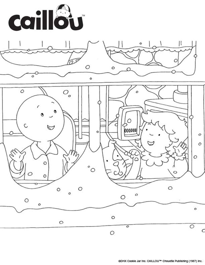 Caillou Rosie Coloring Pages. Caillou . Activities . Paper Dolls ...